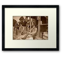Outlaws at the twig Framed Print