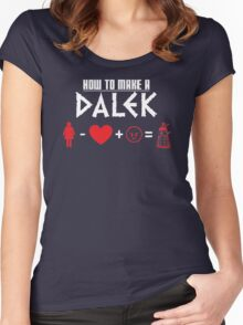 How to Make a Dalek (variant 3) Women's Fitted Scoop T-Shirt