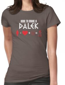 How to Make a Dalek (variant 3) Womens Fitted T-Shirt