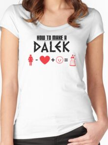 How to Make a Dalek Women's Fitted Scoop T-Shirt