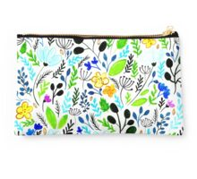 Floral Spring Hipster Pattern Studio Pouch