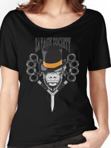 Savage Society: Monocle Monkey Women's Relaxed Fit T-Shirt