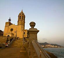 Church in Sitges, Spain by Sven Brogren