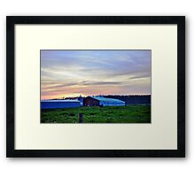 Dusk Farm Framed Print