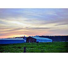 Dusk Farm Photographic Print
