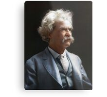 Colorized  - Mark Twain / Samuel L Clemens Metal Print