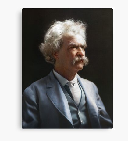 Colorized  - Mark Twain / Samuel L Clemens Canvas Print