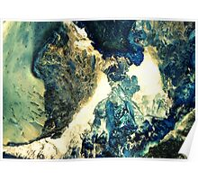 Blue Crystal Cave Poster