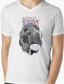 Leave it to Romney Mens V-Neck T-Shirt