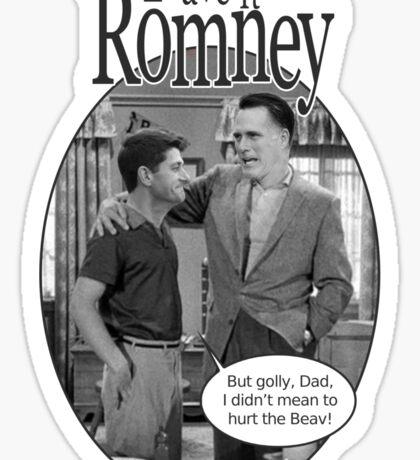 Leave it to Romney b&w Sticker