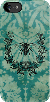 French Bee iPhone case by © Helen Chierego