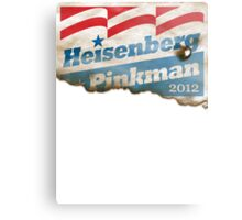 Heisenberg Campaign Poster 2012 Canvas Print