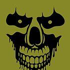 Skull in anger (black) by Kos Bar