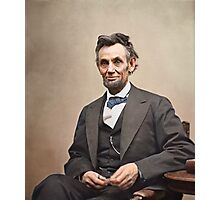 Colorized  - Abraham Lincoln Photographic Print