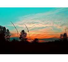 Colorful Farmland Sky Photographic Print