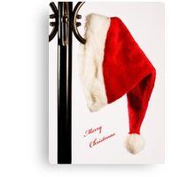 Merry Christmas Santa Hat Canvas Print