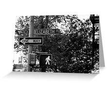 Elizabeth Street Greeting Card