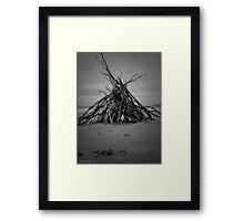 Bonfire on the Beach Framed Print
