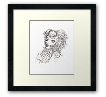 Zombie  Heart Framed Print