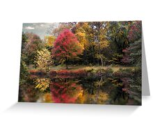Autumn's Mirror Greeting Card
