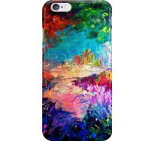 WELCOME TO UTOPIA Bold Rainbow Multicolor Abstract Painting Forest Nature Whimsical Fantasy Fine Art iPhone Case/Skin