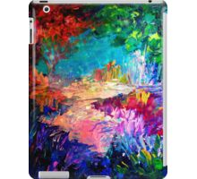 WELCOME TO UTOPIA Bold Rainbow Multicolor Abstract Painting Forest Nature Whimsical Fantasy Fine Art iPad Case/Skin