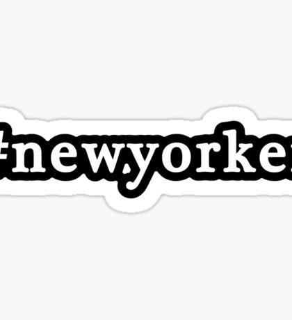 New Yorker - Hashtag - Black & White Sticker