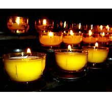 Church Candles Photographic Print