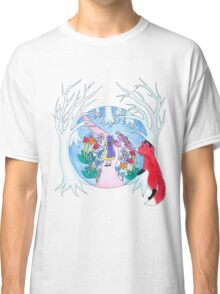 Girl in Fantasy Forest Classic T-Shirt