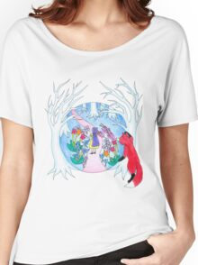 Girl in Fantasy Forest Women's Relaxed Fit T-Shirt