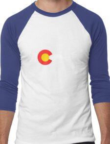 Colorado Flag Cyclist Men's Baseball ¾ T-Shirt
