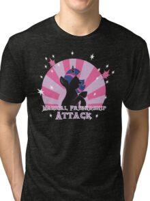 Magical Friendship Attack. Tri-blend T-Shirt