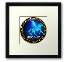 NROL-67 Program Logo Framed Print