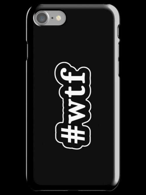 WTF - Hashtag - Black & White by graphix