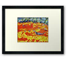 Outback Lizard Framed Print