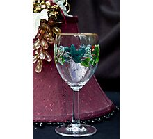 Let's Drink to Happy Holidays Photographic Print