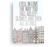 The Way You Fall Asleep Canvas Print