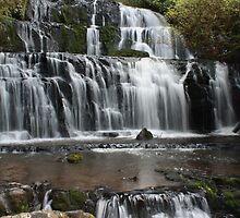 Punakaiki Falls flows by Jon Charles