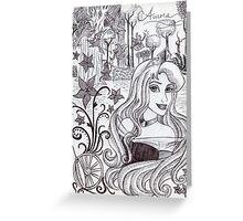 Monochrome Princess A Greeting Card