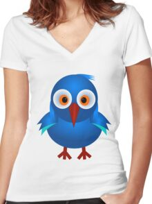 Cucco Women's Fitted V-Neck T-Shirt