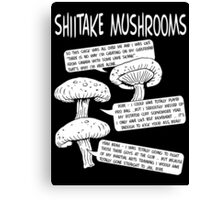 Shiitake Mushrooms Canvas Print