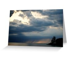 clouds and rain Greeting Card
