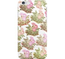 Vintage shabby chic pink green floral pattern  iPhone Case/Skin