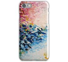 PARADISE DREAMING Colorful Pastel Abstract Art Painting Textural Pink Blue White Tropical Brushstrokes iPhone Case/Skin