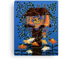 Waiting For Lunch  ~ watch out birdies! Canvas Print
