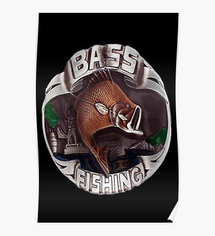 <º))))><   BASS FISHING <º))))><    Poster