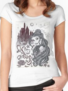 Monochrome Princess B Women's Fitted Scoop T-Shirt