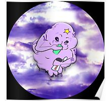 Meanwhile in Lumpy Space on Black Poster