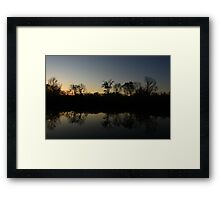 The Middle of Hidden Lake, Lisle, IL. Framed Print