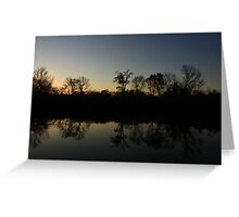 The Middle of Hidden Lake, Lisle, IL. Greeting Card